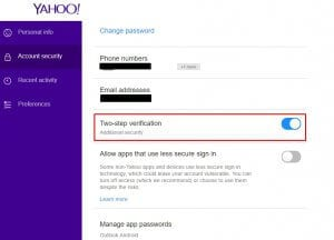 security yahoo