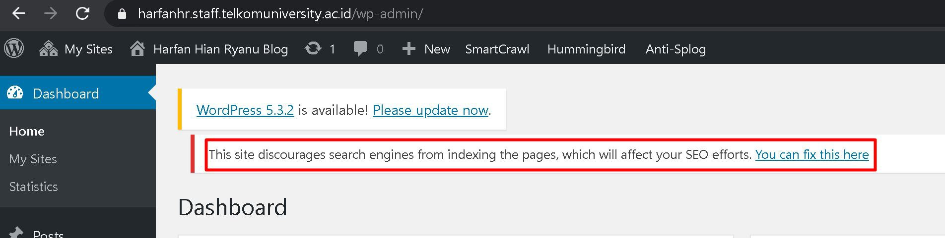 discourage this website from search engine bad for SEO