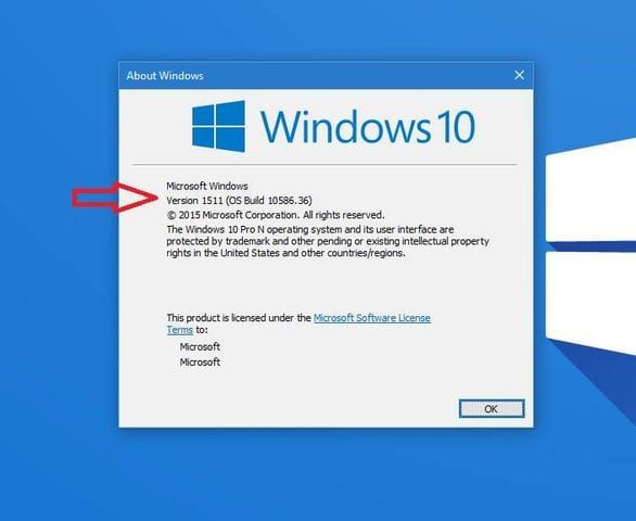 run of find winver to know about versions of your windows